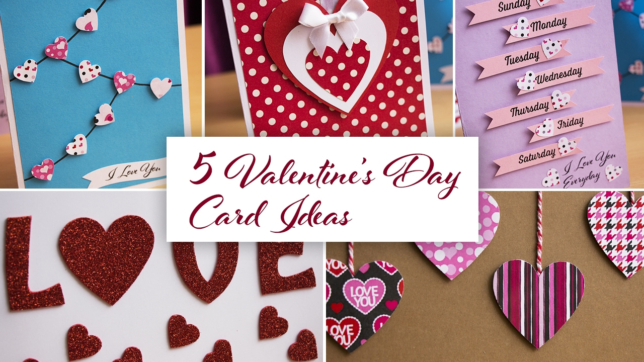 5 cute easy diy valentines day greeting card ideas youtube 5 cute easy diy valentines day greeting card ideas kristyandbryce Image collections