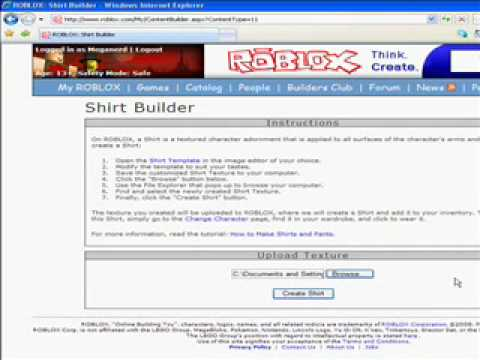 how to create clothing in roblox