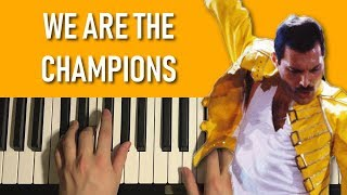 Baixar HOW TO PLAY - Queen - We Are The Champions (Piano Tutorial Lesson)