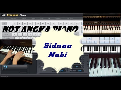 Not Angka Sholawat Sidnan Nabi