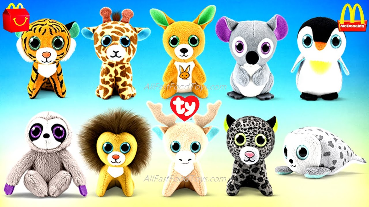 Mcdonalds 2021 Christmas Toy Line 2021 Mcdonald S Ty Teenie Beanie Boos Happy Meal Toys Plush Full Set 10 Europe Usa May Collection Youtube