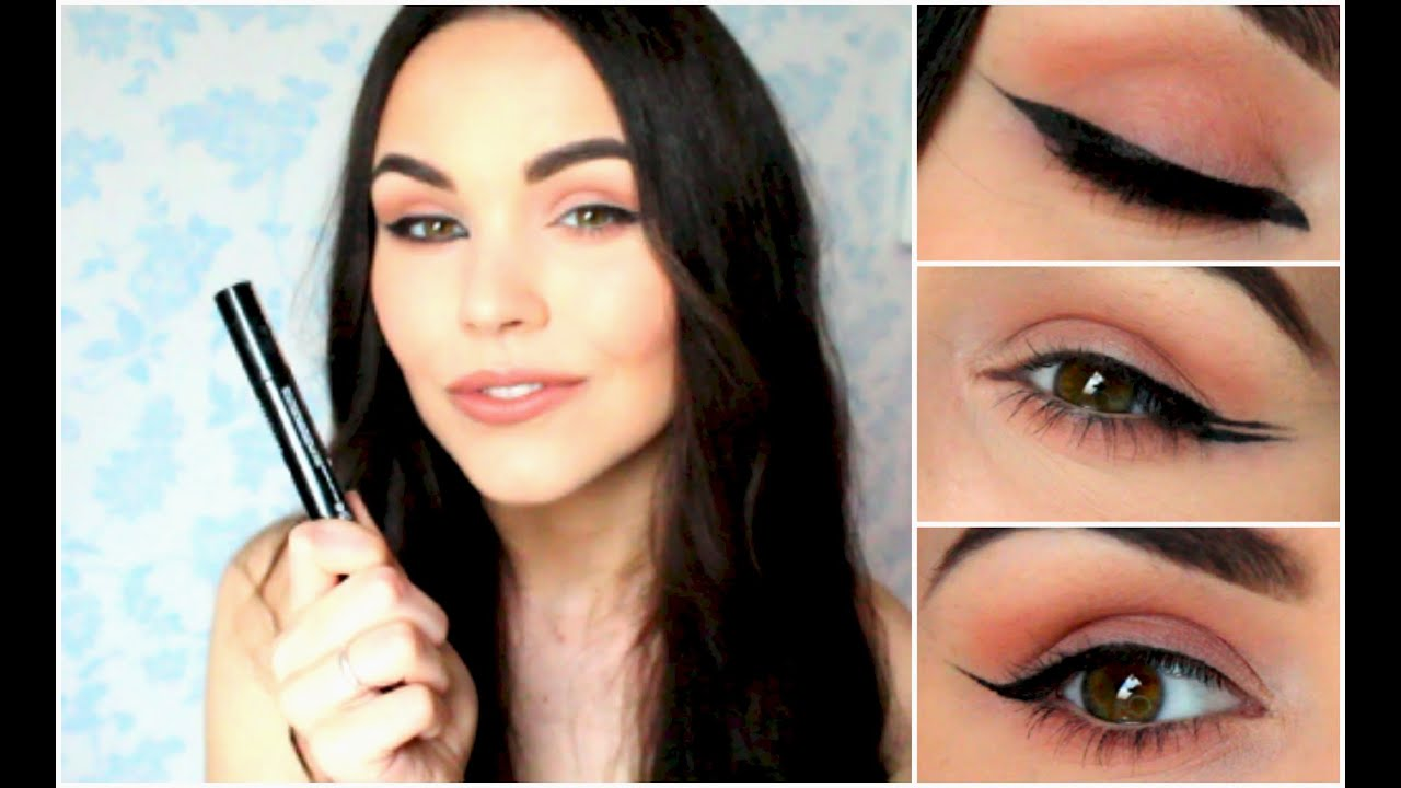 how to do liner simple wing cat eye double wing