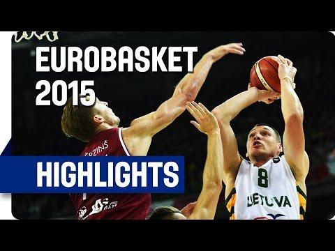 Latvia v Lithuania - Group D - Game Highlights - EuroBasket 2015