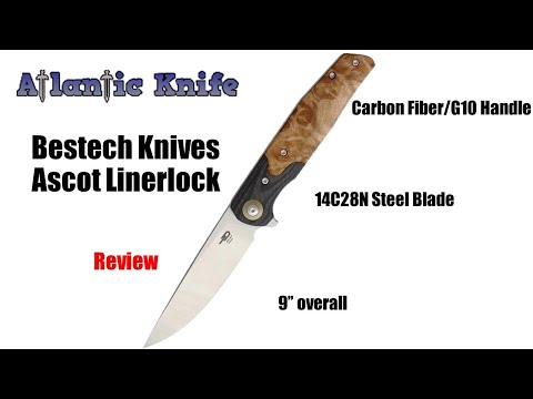 Bestech Knives Ascot Linerlock Folding Knife Review | Atlantic Knife Reviews 2020