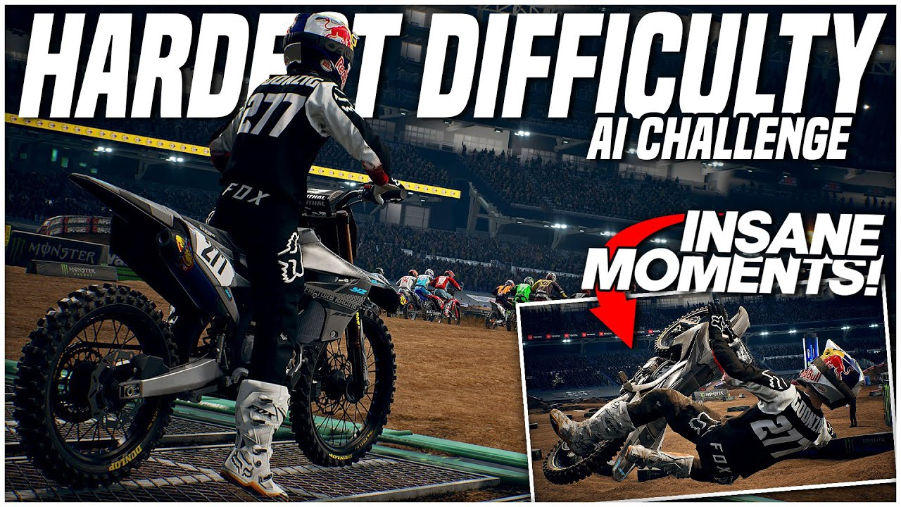 I Challenged the HARDEST Difficulty! (Monster Energy Supercross: The Official Videogame 3)