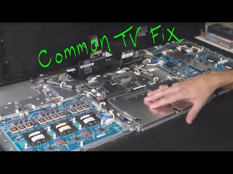 How to fix Sony TV red blinking light on off shutdown review