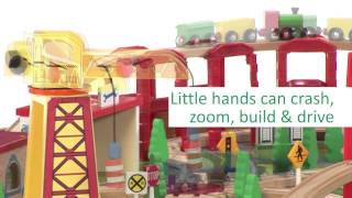 Early Learning Centre Wooden Train Table Toy