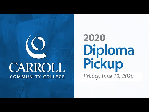 Carroll Community College 2020 Diploma Pickup