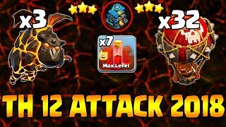 How To Destroy Anti 3 Star Base With LavaLoon | TH12 Air War Attack Guide | Clash Of Clans