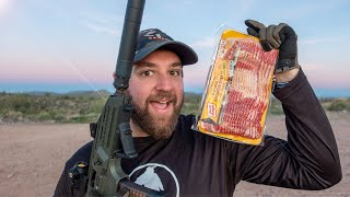 Suppressor Cooked BACON   BBQ with a BANG!