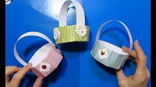 Как сделать Корзинки из бумаги Своими Руками/идеи поделки подарки Пасха/DIY: Easter & Mother's Day