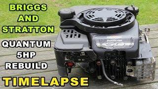 Briggs and Stratton Engine Rebuild   Quantum 5hp Small Engine Timelapse