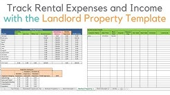 Landlord template demo, Track rental property in excel