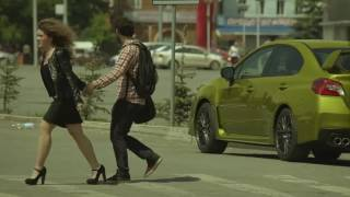 Subaru WRX STI 2015 меняет цвет.  Розыгрыш в Уфе