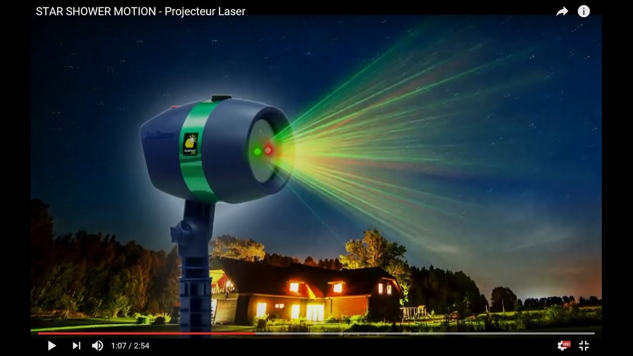 Star shower motion by m6 boutique projecteur laser youtube for Star shower motion m6