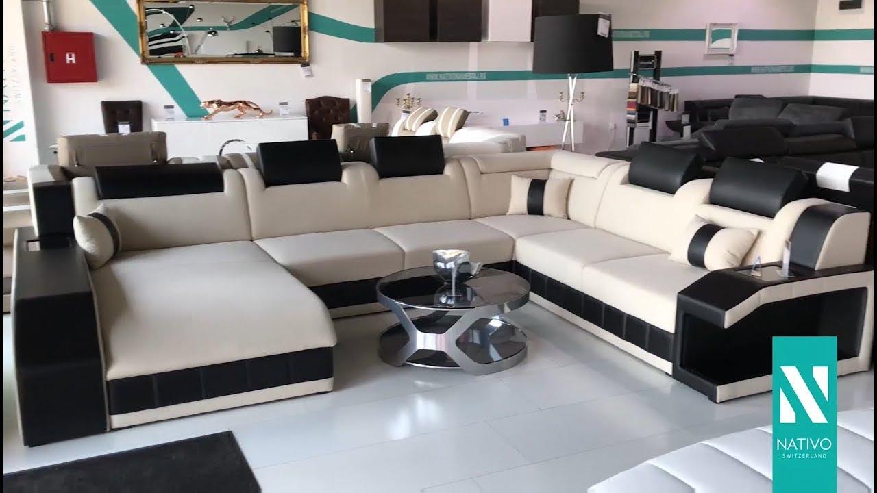 Nativo Möbel österreich Designer Sofa Mirage Xxl Mit Led