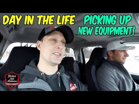 Day In The Life - Picking Up New Equipment W/ Brandon | New Blower + Hedge Trimmer | Lawn Care Vlog