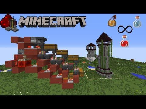 Crafteur de potion 100% automatique - 500 potions/h - Minecraft redstone tutoriel