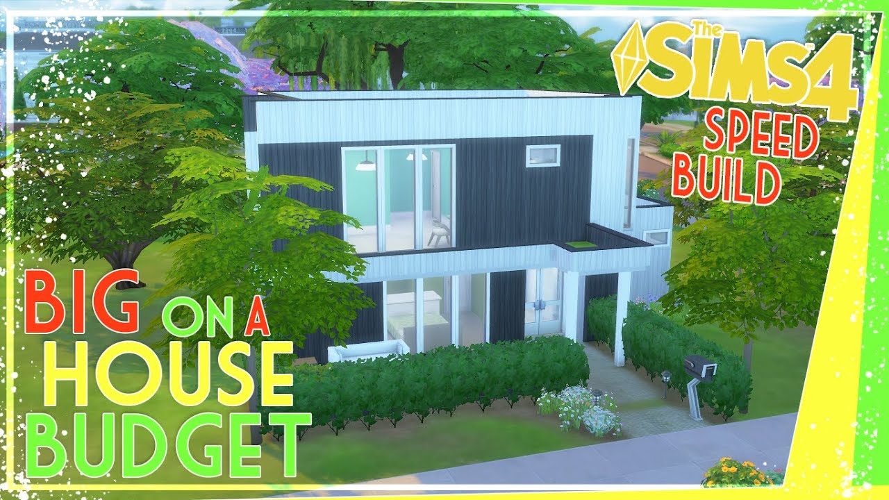 The Sims 4: Speed Build   Big House On A Budget - (Modern Family Starter)