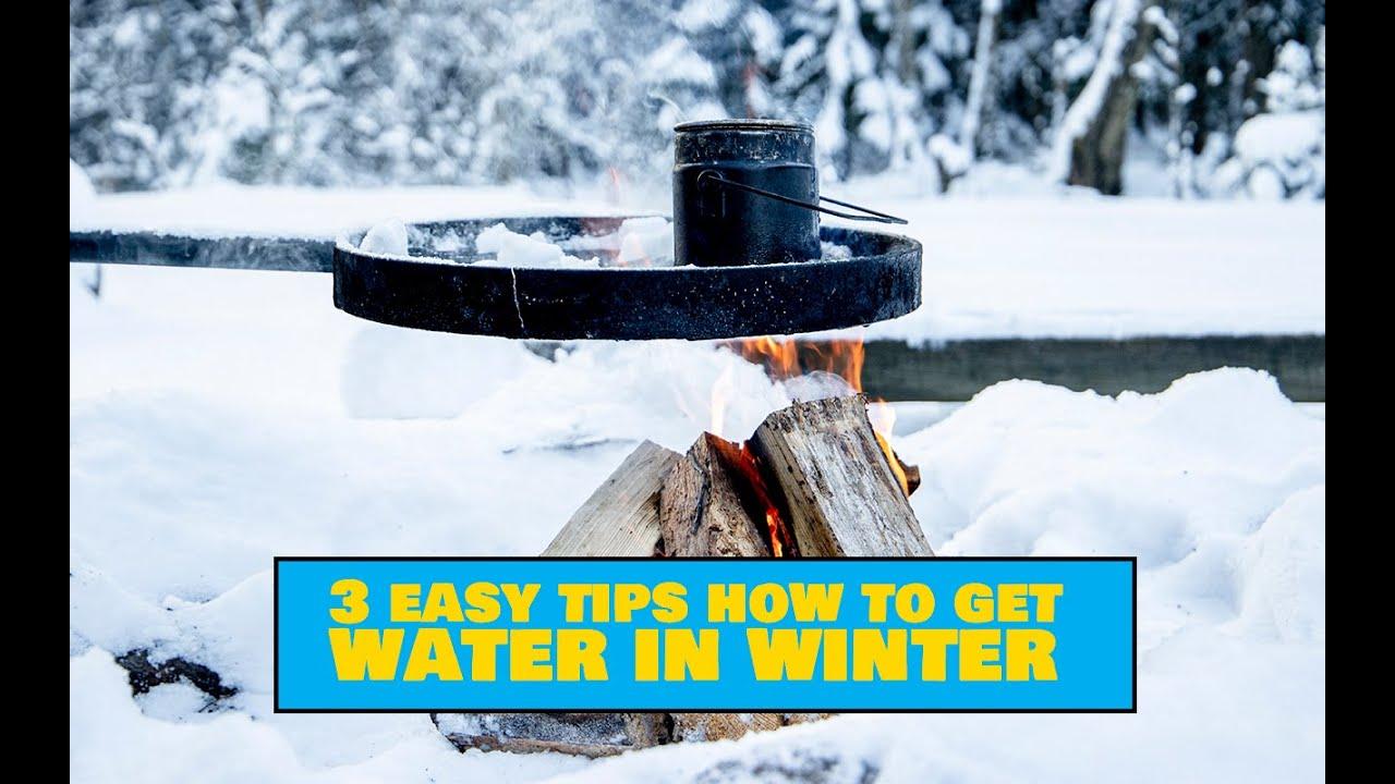 How to Get Water in Winter / Vee leidmine talvel - Outdoors Camping Tips