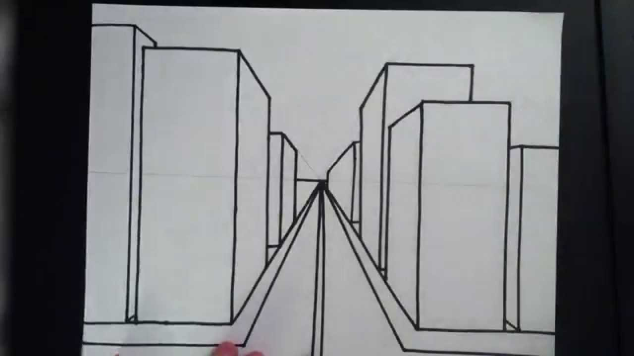 How to Draw a 3D City 3rd Grade Project YouTube