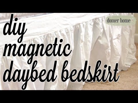DIY MAGNETIC DAYBED BEDSKIRT   $5 GOODWILL CHALLENGE