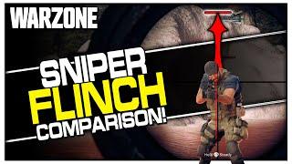 Cold War Snipers Flinch More in Warzone? (Sniper Flinch Comparison)