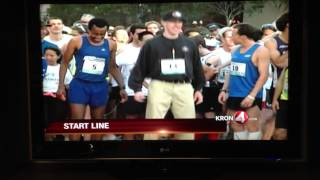Jim Harbaugh at the Bay to Breakers 2013