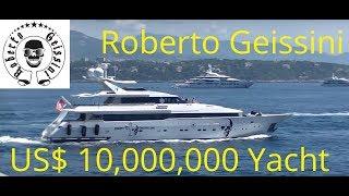 [Robert Geiss]: His CRAZY US$ 10,000,000 Yacht INDIGO STAR leaving Monaco