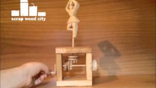 Wooden Ballerina Mechanical Toy