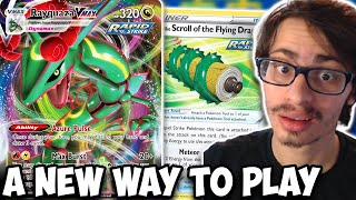 A New Way T๐ Play Rayquaza VMAX! Scroll Of The Flying Dragon! Sniping! Evolving Skies PTCGO