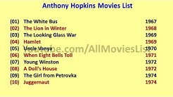 Anthony Hopkins Movies List