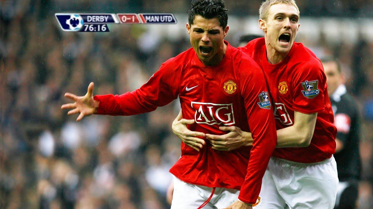 5790901446b22 Cristiano Ronaldo vs Derby County Away 07-08 by Hristow - YouTube