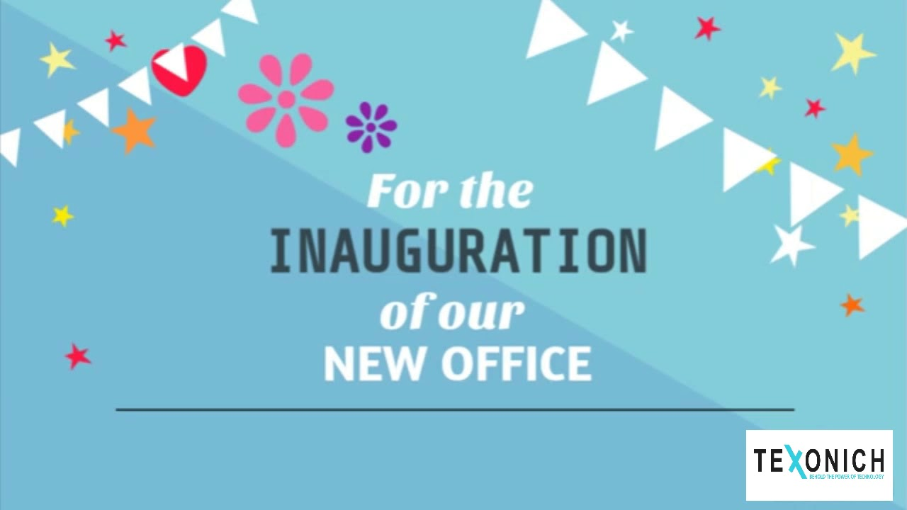 Invitation For Office Inauguration Texonich Youtube