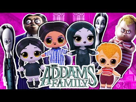 The ADDAMS Family 🏚️ Wednesday , Morticia, Gomez & Pugsley! 👻 LOL Dolls - Toy Transformations