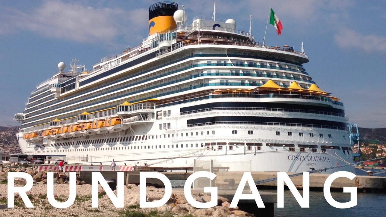 Costa diadema rundgang youtube for Deckplan costa diadema