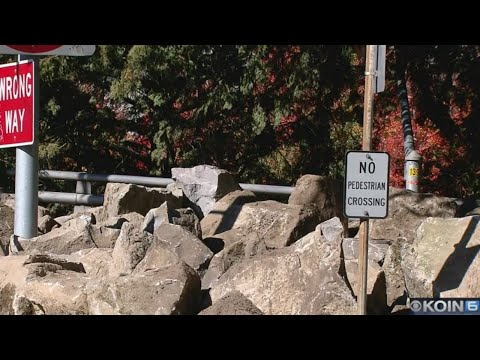 ODOT puts boulders at spot of homeless camp