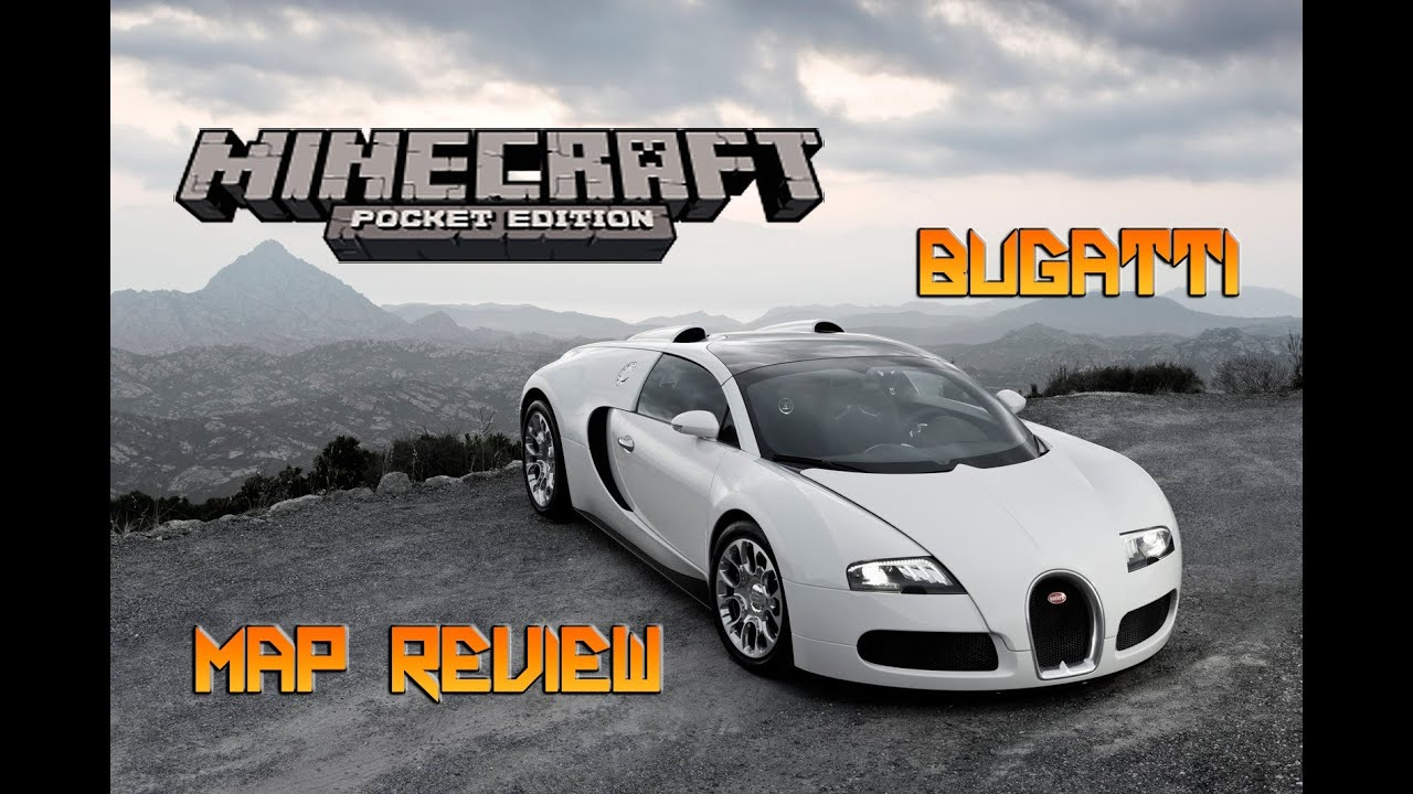 bugatti veyron map review minecraft pocket edition youtube. Black Bedroom Furniture Sets. Home Design Ideas