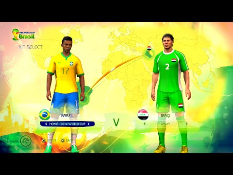 Brazil vs Iraq Group A Game Pretend Olympic Games Using 2014 FIFA World Cup Brazil