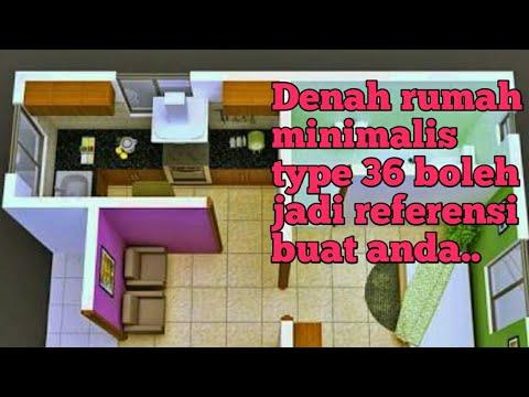 Model Denah rumah minimalis type 36