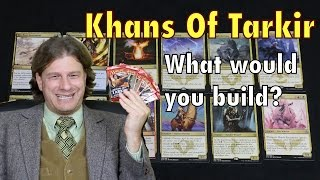Mtg - Khans Of Tarkir Part 1: Let's Build A Sealed Magic: The Gathering Deck Together!