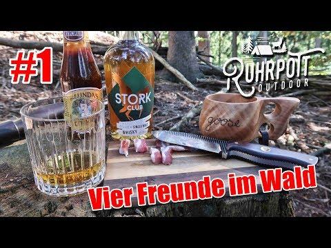 Vier Freunde im Wald - Ruhrpott Outdoor 1815