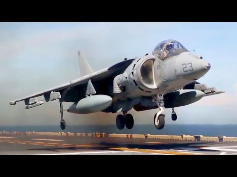 The Whole Flight Deck Is Shaking! AV-8B Short Takeoff And Vertical Landing From Ship