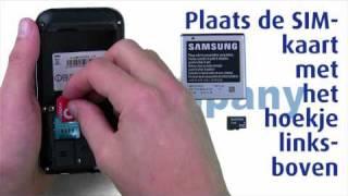 Samsung Galaxy S - Het installeren van de SIM-Kaart