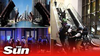 Chicago police raise bridges to quash looting & riots