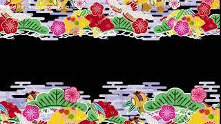 Stock Footage Japanese oriental goodluck lucky newyear pattern traditional Japanese Pattern Engimono
