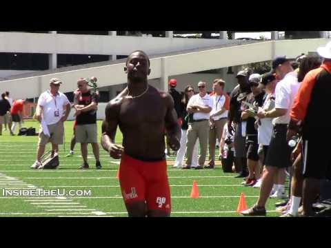 Running Back Joseph Yearby at Miami Pro Day