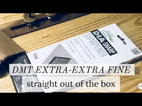 Extra-Extra Fine DMT Diamond Stone Out-of-Box Test