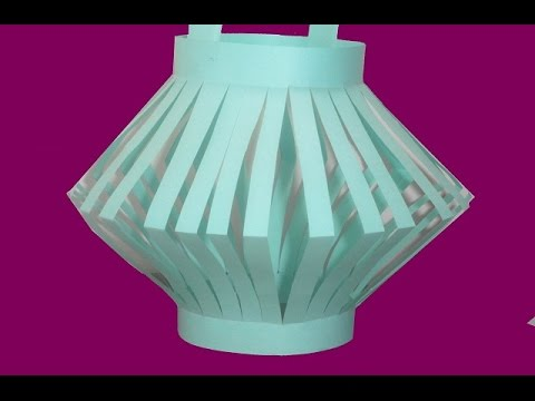 How To Make Paper Light Decoration Paper Lantern Paper Crafteasy