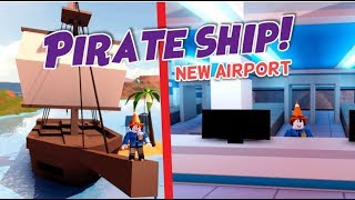 Jailbreak NEW AIRPORT Update! (Roblox Pirate Ship, Remodel Police Station, Museum, New Items)